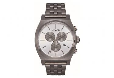 Montre Nixon Time Teller Chrono GunMetal / Argent