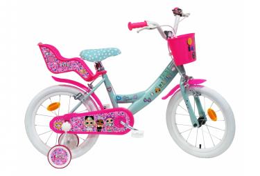 Vélo 16 '' Licence ''LOL '' pour enfant de 5 à 7 ans avec stabilisateurs à molettes
