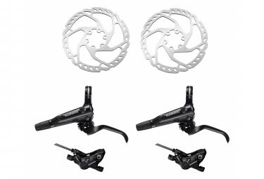 Shimano Pair of Brakes Rear Brake MT520 1700mm 1000mm BH90 + Shimano Disc Brake SM-RT66 180 mm