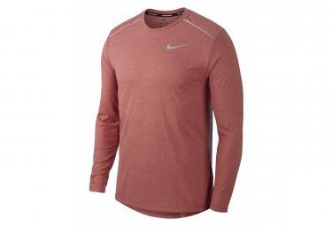 Camiseta de manga larga Nike Hombres Rise 365 Rojo