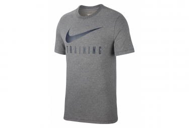 Nike Short Sleeve Jersey Men Dri-Fit Training Grey Blue