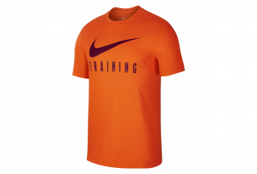 Nike Short Sleeve Jersey Men Dri-Fit Training Orange