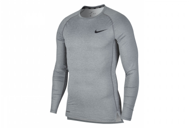 Maillot Manches Longue Homme NIKE Pro Gris
