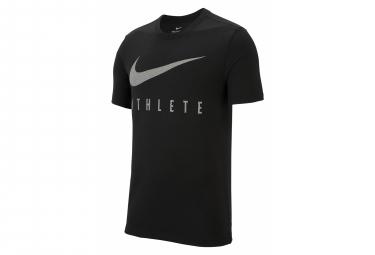 Nike Short Sleeve Jersey Men Dri-Fit Athlete Black