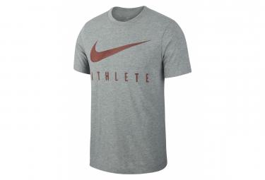 Camiseta de manga corta Nike Hombre Dri-Fit Athlete Grey