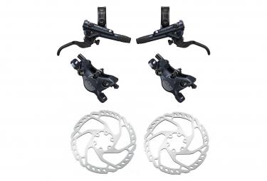 Pair of Brakes Shimano SLX M7100 R Sine Ventil J-Kit 165cm 95cm Black with Shimano Disc Brake SM-RT66