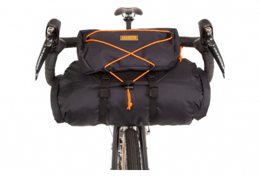 Handlebar Bag Restrap Bar Bag Holster with Waterproof Bag / 14 + 3 L / Black Orange