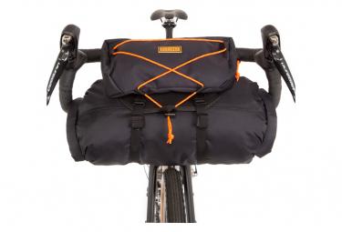 Sacoche de Guidon Restrap Bar Bag Holster avec Sac Étanche / 14 + 3 L / Noir Orange