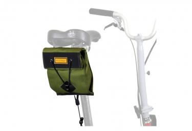 Restrap City Saddle Bag Small Para Bicicleta Plegable Verde Oliva