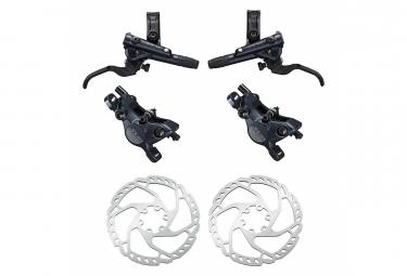 Pair of Brakes Shimano SLX M7100 R Sine Ventil J-Kit 165cm 95cm Black avec Disque de Frein Shimano SM-RT66 Argent 180mm + 160mm