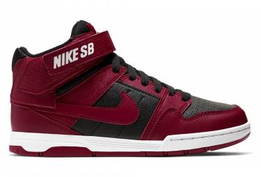Pair of Nike SB Mogan Mid 2 JR Red Black Shoes