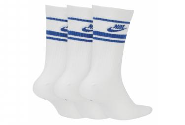 Chaussettes Nike NSW Essential Blanc / Bleu (Pack de 3 Paires)