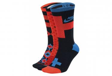 Chaussettes Nike SB Everyday / Noir/ Rouge / Bleu (Pack de 3 Paires)