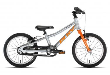 Vélo Enfant PUKY S-Pro 16-1 Alu argent/orange