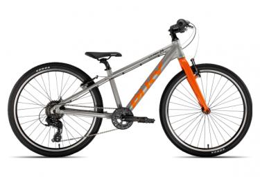 Bicicleta para ninos puky s pro 24 8 alu plateada   naranja