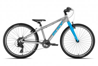 Bicicleta infantil puky ls pro 24 8 shimano tourney 8v plata   azul 8 12 anos