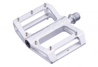 Paire de Pédales Plates Insight Aluminium Mini Gris Argent
