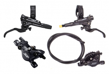 Pair of Brakes Shimano XT M8100 Resine J-Kit (without disc) 165cm 95cm Black