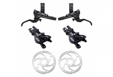 Pair of Brakes Shimano XT M8100 Resine J-Kit (without disc) 165cm 95cm Black with Shimano Disc Brake SM-RT66 180 mm + 160 mm