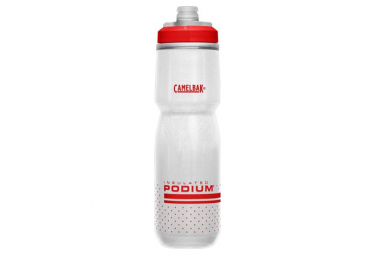 Camelbak Podium Chill Isothermal Bottle 0.71 L White / Red