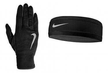 Nike Running Dry Men's headband and gloves Black