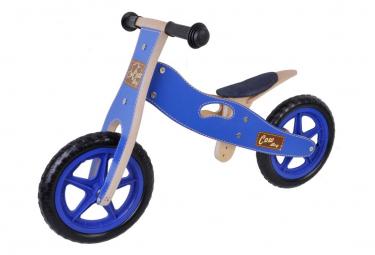 Draisienne en bois vélo sans pédale fille bleu jeans