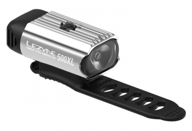 Lezyne Hecto Drive 500XL Front Light Polish Silver