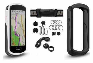 Garmin Edge 1030 GPS Cardio Pack + Speed + Speed + Funda protectora de silicona para Garmin Edge 1030 Negro