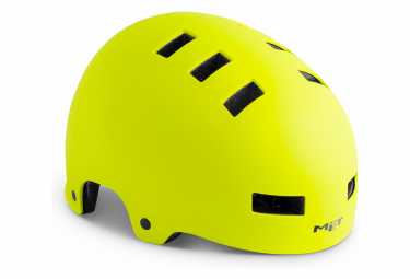 MET Helmet Zone Yellow Fluo Mat