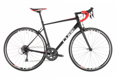 Cube Attain Road Bike Shimano Shimano Claris 8s Black / Red 2019