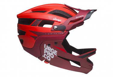 URGE Gringo de la Pampa Helmet with Removable Chinstrap Red
