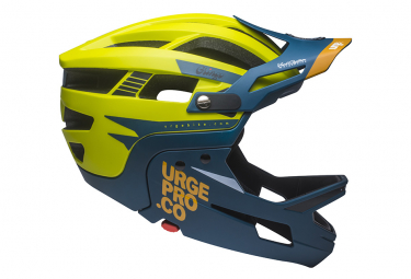 URGE Gringo de la Pampa Helmet with Removable Chinstrap Lime / Blue