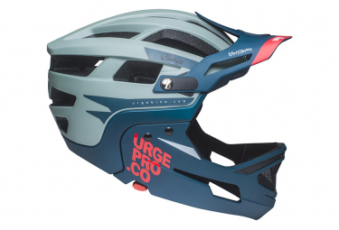 URGE Gringo de la Sierra Helmet with Removable Chinstrap Grey / Blue