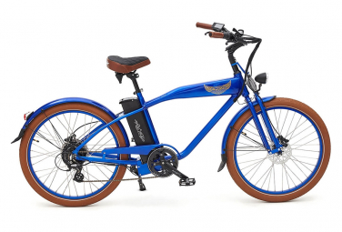 Image of Velo electrique ariel rider w class premium bleu vitesse 25km h