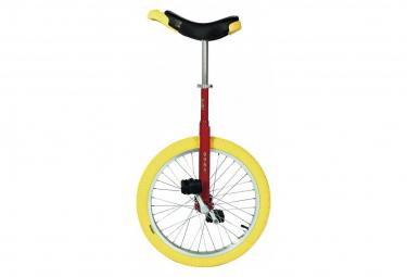 Monocycle Qu-Ax Luxus 20  Rouge Pneu Jaune