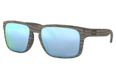 OAKLEY Paire Lunettes HOLBROOK WOODGRAIN PRIZM DEEP H2O POLARIZED