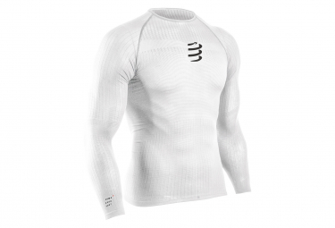 Compressport 3D Thermo 50g Long Sleeves Thermal Jacket White