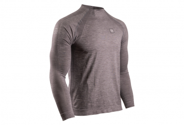 Maillot manches longues Compressport Training Gris