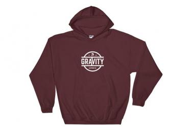 Image of Original gravity maroon hoodie l
