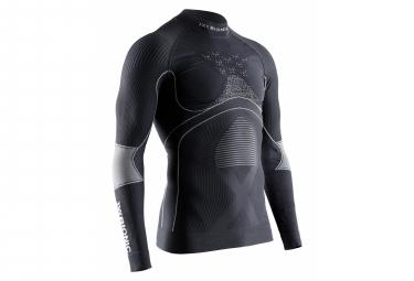X bionic energy accumulator 4 0 long sleeves top charcoal pearl grey l