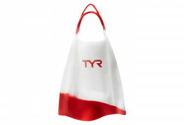 Palmes TYR Hydroblade Fins Clear Rouge