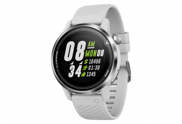 Coros Apex 42 mm GPS Watch White Silver