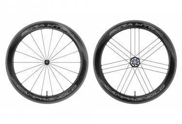 Juego de ruedas Campagnolo Bora WTO 60, etiqueta brillante, sin cámara, listo | 9x100 - 9x130 mm