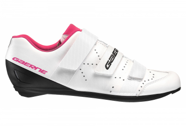 Pair of Road Shoes Gaerne G.RECORD Woman White / FUXIA