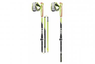 Paire de Bâtons de Trail Running Leki Micro Trail Vario Noir Vert 110 - 130cm