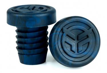 Embouts de Poignées BMX Freestyle FEDERAL Rubber Midnight Blue / Black Tie Dye