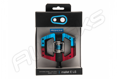 Pair of Automatic paddles with Crank Brothers MALLET Enduro LS Red / Blue Cage by Alltricks