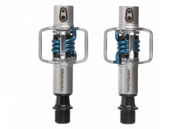 Pair of Crank Brothers EGGBEATER 1 Automatic Pales Silver / Blue Spring by Alltricks
