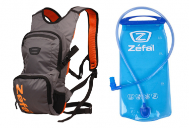 Zéfal Z Hydro XC Hydration Backpack Grey Orange + 2L Bladder