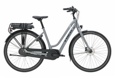 Bicicleta Ciudad Mujer Trek District+ 1 Midstep 500wh Gris